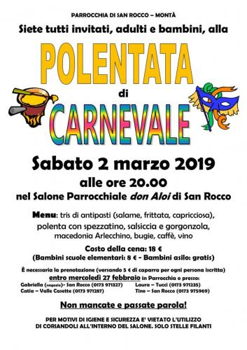 Polenta di Carnevale 2019