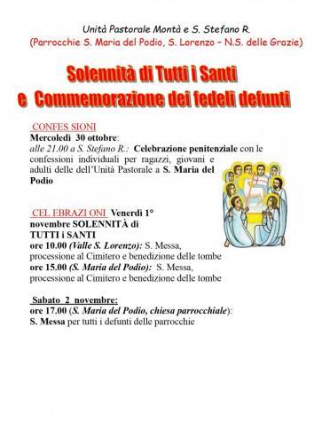 Festività dei Santi a S.Stefano 2020